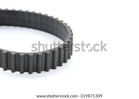 Engine belt on white background. - stock photo