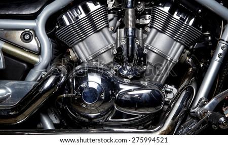 engine bike  - stock photo