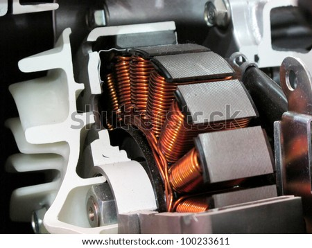 Engine Cutout showing dynamo - stock photo