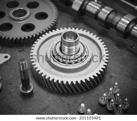 Engine gear - stock photo
