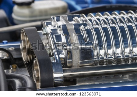 Engine in a sports car