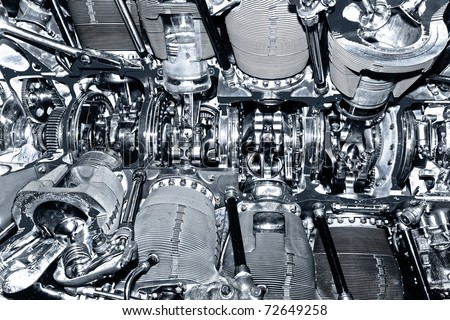 Engine in Close up. - stock photo