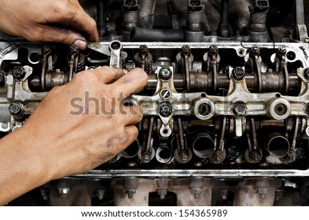 Engine parts - stock photo