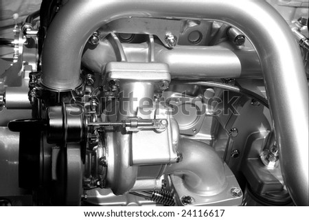 Engine parts and components - stock photo