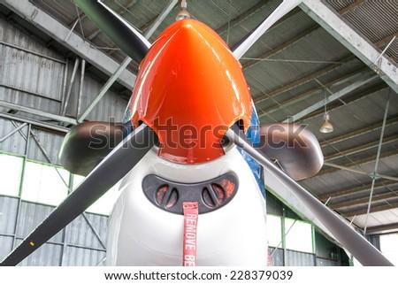 Engine propeller - stock photo