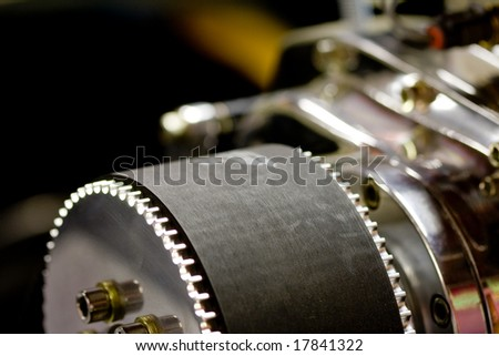 Engine pulley - stock photo