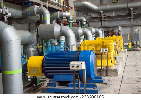 Engine room - power station.