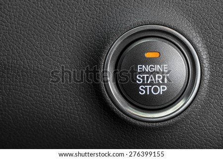 Engine start button - stock photo