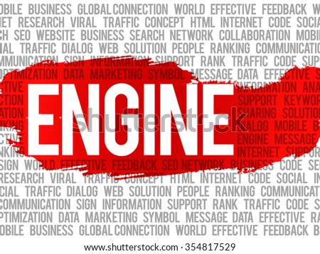 ENGINE word cloud, business concept