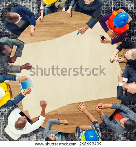 Engineer Architect Planning Design Meeting Discussing Concept - stock photo