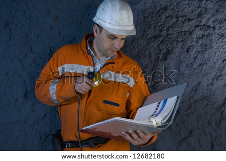 Engineer checking the plan