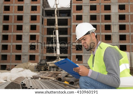 engineer controls construction
