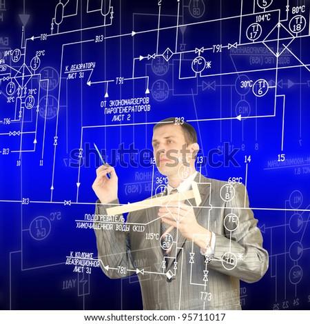 Engineer designing - stock photo