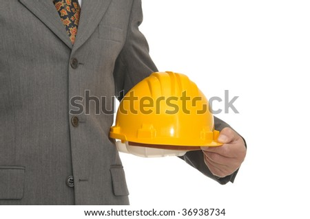 Engineer detail isolated in white