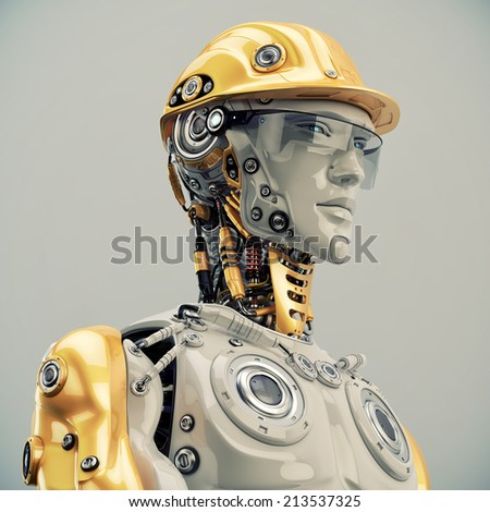 Engineer /  Engineer in yellow hardhat portrait  - stock photo