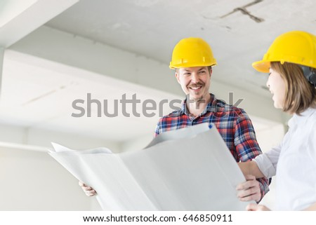 Engineer group worker meeting discussion construction stock photo engineer group and worker meeting discussion with construction blueprint on site work malvernweather Gallery