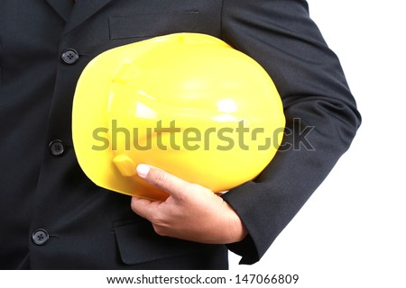 Engineer holding a hat.