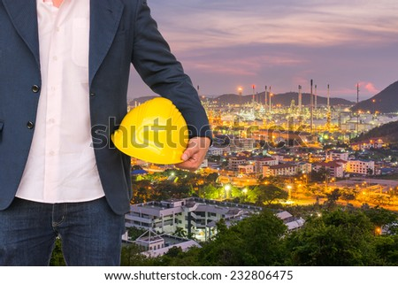 Engineer in Plant - stock photo