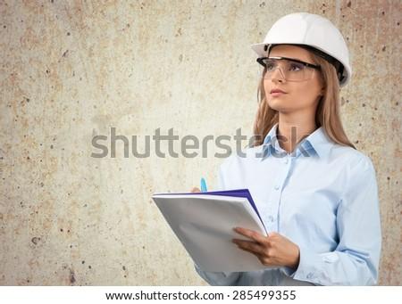 Engineer, Occupation, Women. - stock photo