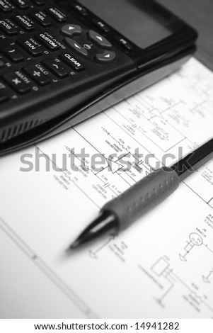 Engineer's Workspace - stock photo