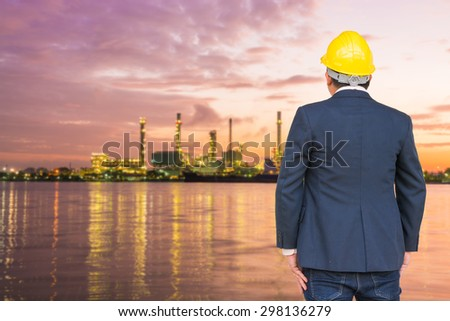 Engineer with refinery