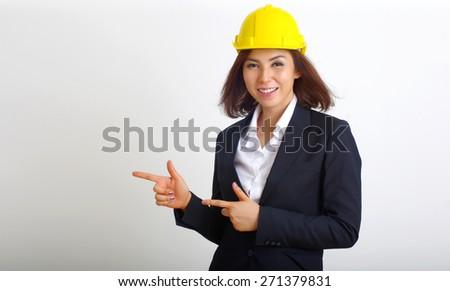 Engineer woman smile - stock photo