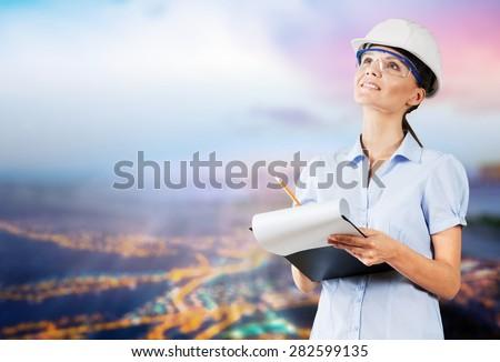 Engineer, Women, Asian Ethnicity. - stock photo
