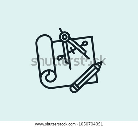 Engineering blueprint icon line isolated on stock illustration engineering blueprint icon line isolated on clean background engineering blueprint icon concept drawing icon line malvernweather Image collections