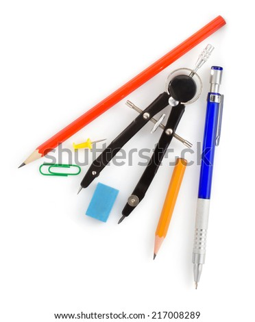 engineering concept isolated on white background - stock photo