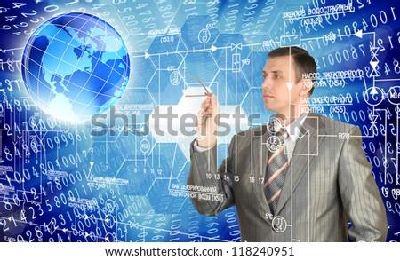 Engineering designing.Globalization - stock photo