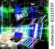 Engineering designing internet technology - stock