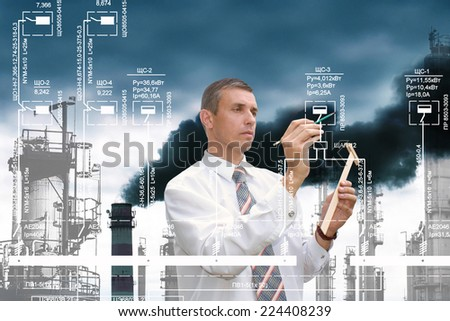 Engineering ecological industrial designing - stock photo