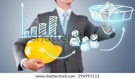 Engineering, engineer, money. - stock photo