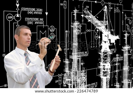 Engineering industrial designing - stock photo