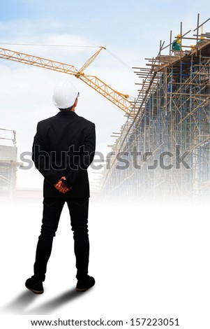 Engineering looking for the future  - stock photo