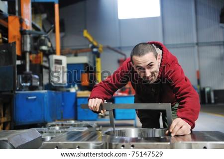 engineering people manofacturing industry with big modern computer mashines i company  hall - stock photo
