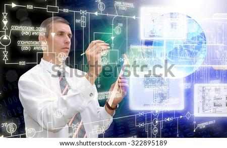Engineering technology.Generation - stock photo