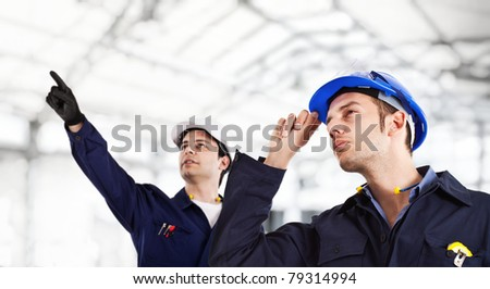 Engineers at work - stock photo