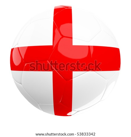 england 3d  soccer ball isolated on white background - stock photo