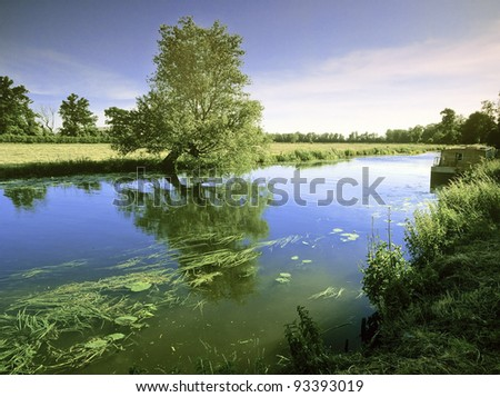 england east anglia the norfolk broads and fens - stock photo