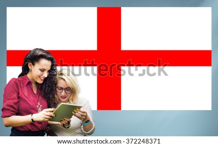 England Flag Country Nationality Liberty Concept - stock photo