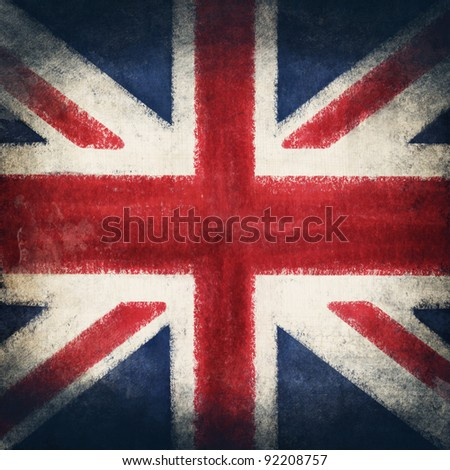 England flag drawing ,grunge and retro flag series - stock photo