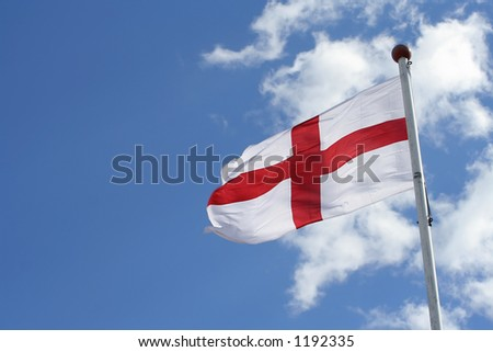 England flag (room for text) - stock photo