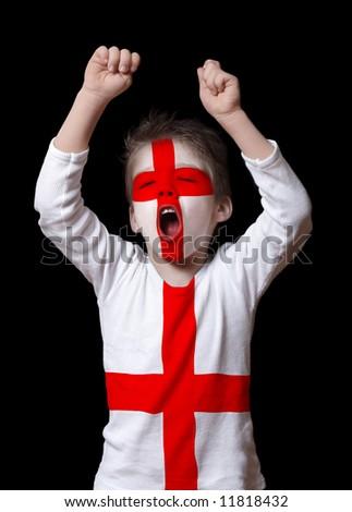 England football fan - stock photo