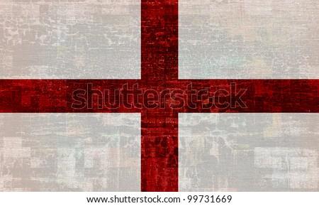 England grunge flag background - stock photo