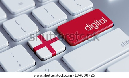 England High Resolution Digital Concept - stock photo