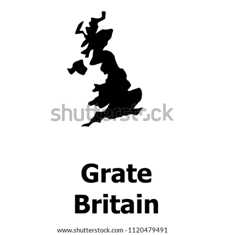 England Map Icon Simple Illustration Of For Web