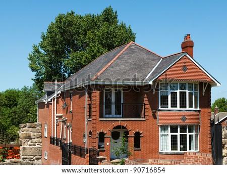 England new house - stock photo