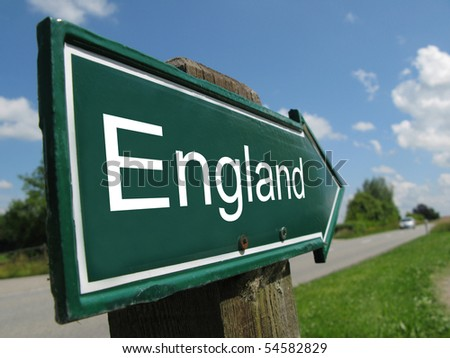 ENGLAND road sign - stock photo