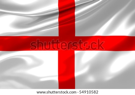 England satin flag - stock photo